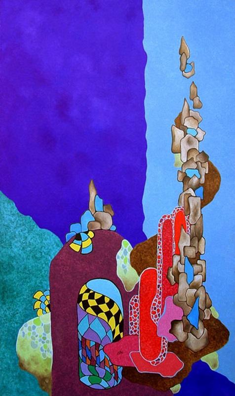 Anabasi - Olio su tela cm 70x120