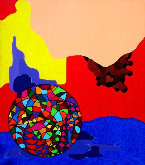 Dietro l'ombra - Huile sur toile cm 70x80