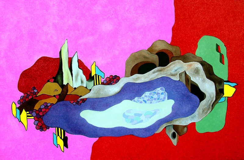 I mondi volano - Olio su tela cm 120x80