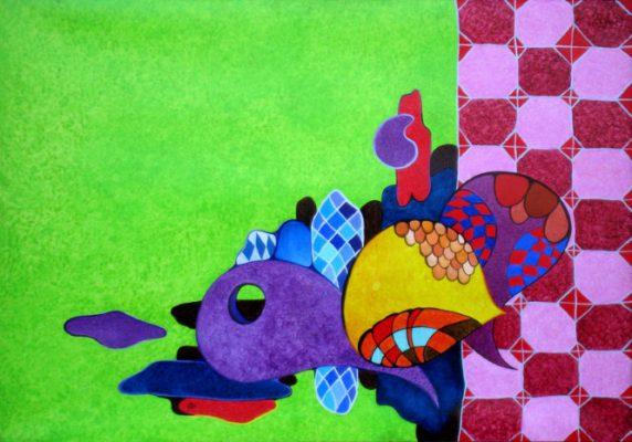 Il gioco delle cose - Huile sur toile cm 100x70
