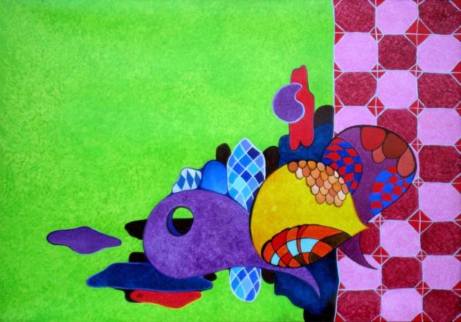 Il gioco delle cose - Olio su tela cm 100x70