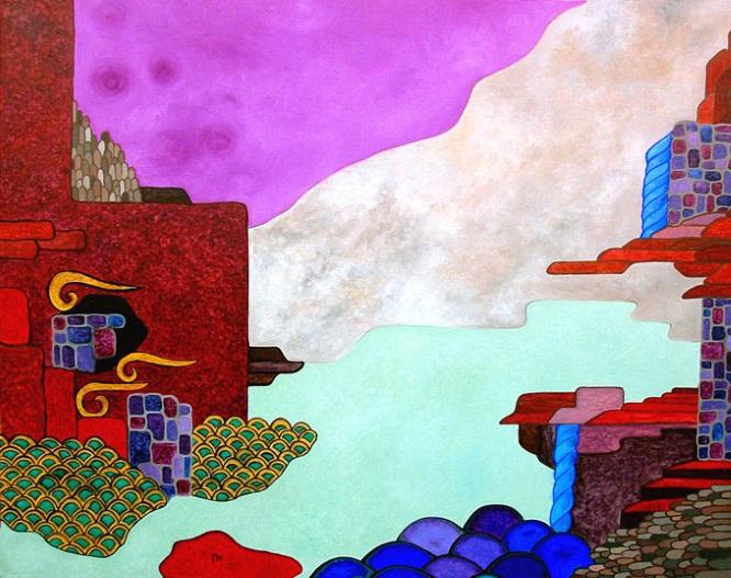 L'assenza del mare - Huile sur toile cm 100x80