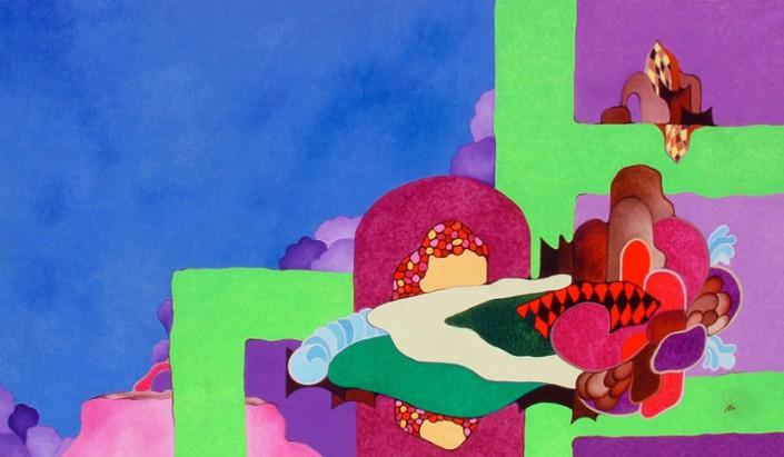 Le viole del marzo passato - Olio su tela cm 120x70